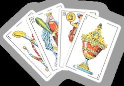 Jeu de cartes de mus